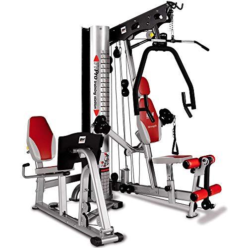 BH Fitness TT Pro G156, Stazione multifunzione di allenamento, Unisex-Adulto, Argento/Nero/Rosso, 174cm x 188cm \nx 214cm