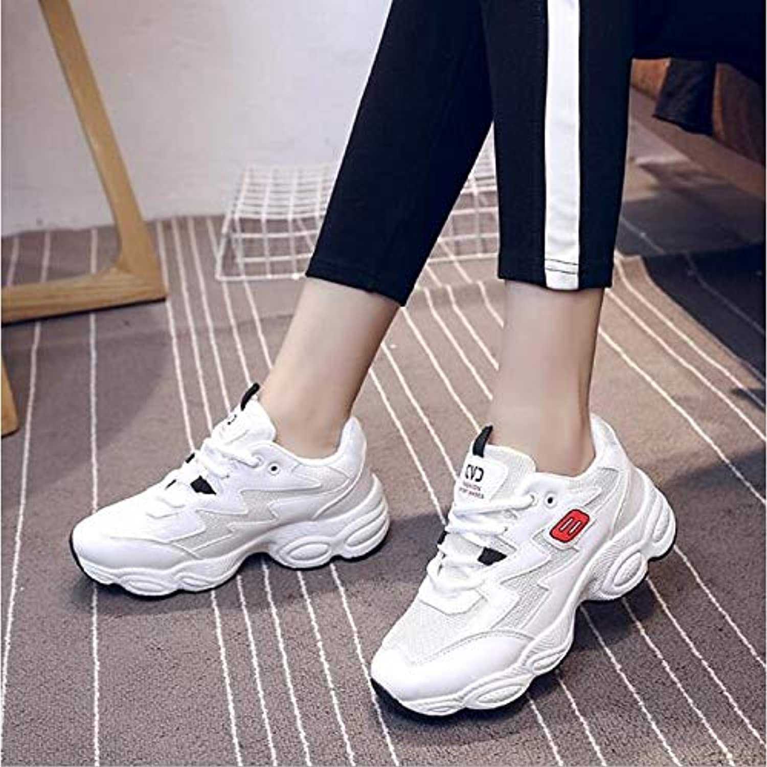Women's shoes Nubuck Leather Canvas Spring Fall Comfort Sneakers Platform White Black   Pink