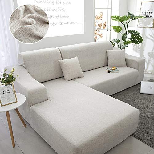 Sofabezug/Sofaüberzug/Sofahusse/Ecksofa Sofaschutz/Sofaüberwürfe/Couchbezug/Sesselbezug/Sofa Überwürfe/Stretch Hussen L Form 1/2/3/4 Sitzer,Color46-4~seater(235~300cm)