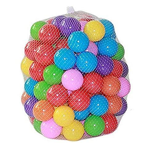 Kaptin 5.5cm 100PCS Soft Plastic Kids Play Ball,Ocean Ball,Colorful Ball Fun Ball Kids Ball Swim Pit Toy Ball Tent Toddler Ball Play Balls for Indoor & Outdoor (Mix Colour)