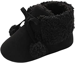 Baby Kids Shoe,Fineser Toddler Baby Girl Boy Hair Ball Soft Premium Bandage Snow Boots Warm Fur Winter Shoes
