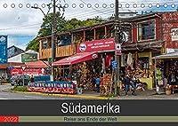 Suedamerika - Reise ans Ende der Welt (Tischkalender 2022 DIN A5 quer): Rundreise durch Suedamerika (Monatskalender, 14 Seiten )