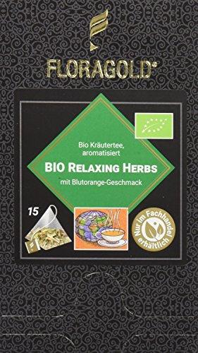 FLORAGOLD Pyramidenbeutel Kräutertee Bio Relaxing Herbs, 1er Pack (1 x 45 g)