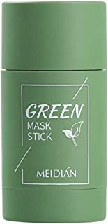 Green Tea Purifying Clay Stick Mask, Face Moisturizes Oil Control, Deep Clean Pore, Improves Skin,for All Skin Types Men W...