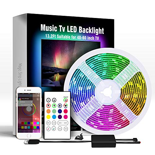 Miume 13.2Ft Music LED Strip Lights for 48-60 inch...