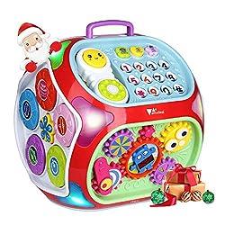 Kinder Lernspielzeug, Amzdeal Aktivitätswürfel, 7 in 1 Elektronisches Baby Spielzeug Musikspielzeug für Kinder von 1-4 Jahren, perfektes Weihnachtsgeschenk für Kinder