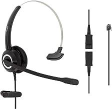 $47 » RJ9 Corded Office HD Voice Headset for MITEL Nortel Meridian NEC Polycom Packet 8 ShoreTel Xblue IP Phones, Plus 3.5mm Jac...