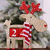 Calendario de Adviento de Navidad Cuenta atrás Santa Claus Calendario de Navidad Decoración Kalendarz Adwentowy Calendrier Avent Calendario @ 30 (Color : Olive)