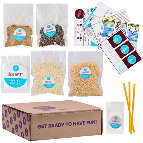 BAKETIVITY Kids Baking DIY Activity Kit - Bake Delicious Healthy Granola Bars with Pre-Measured Ingredients – Best Gift Idea for Boys and Girls Ages 6-12