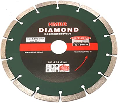 7 Inch Diamond Circular Saw Blade With 1 Bore Wet Dry Cutting Disc For Cutting Granite Tiles Stone 180mm Amazon Co Uk Diy Tools