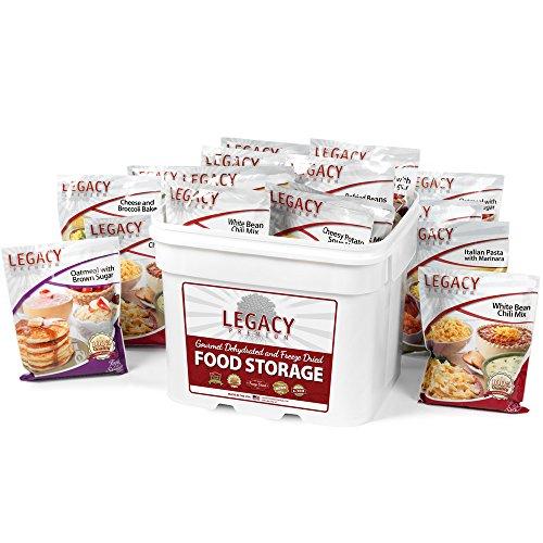 Gourmet Survival Home Food Storage - 120 Large Servings Meal Assortment: 31 Lbs Emergency Supply -...