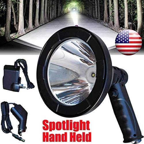 high quality 5 Inch outlet sale LED Rechargeable Handheld Spot Light Searchlight 12V outlet sale Waterproof Super Bright Hunting Lamp Spotlight Torch Lantern, 2 Year Warranty outlet sale