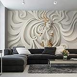 Muralo Selbstklebende Fototapete 180 x 120 3D Effekt Medusa Tapete Luxus Stein Steinoptik Marmor Wohnzimmer Schlafzimmer Wandbilder XXL Wand Br. 180 cm x Hö. 120 cm