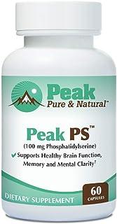 """Peak Pure & Natural """"Peak PS"""" Phosphatidylserine Brain Health Supplement - Soy-Free Nootropic for Memory He..."""