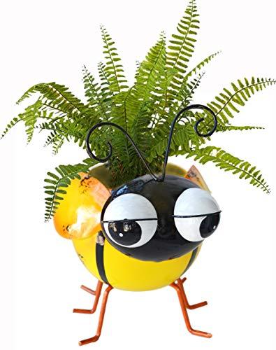 GIFTME 5 Metal Bee Garden Pot for Plants Indoor or Outdoor Decorations Succulent...
