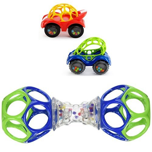 Great Features Of Oball RATTLE & ROLL and  SHAKER Toy Bundle