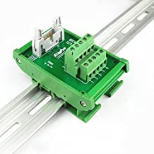 Sysly IDC10 2x5 Pins DIN Rail Mounted Interface Module, Breakout Board, Terminal Block