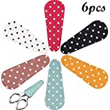 Best Embroidery Scissors - 6 Pieces Embroidery Scissors Sheath Polka Dot Scissors Review