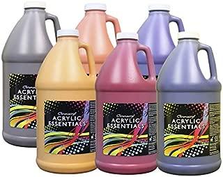 Chroma Acrylic Essentials Set, 1/2 Gallon Jugs, Assorted Secondary Colors, Set of 6 - 1296497