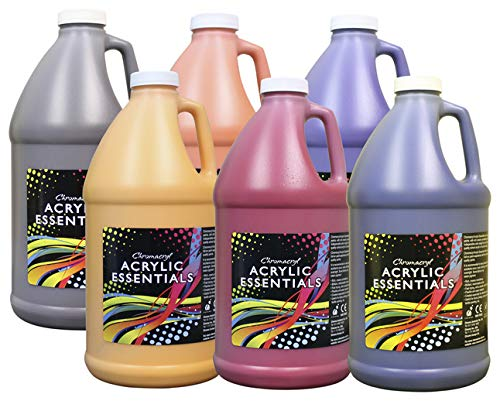 Chroma - 59006 Acrylic Essentials Set, 1/2 Gallon Jugs,...
