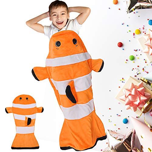 Catalonia Classy Kinder Nemo Schwänze Decke Plüsch Weiches Kuscheldecke alle Jahreszeiten Kindergartendecke Siesta Schlafsack Fleecedecke zu Hause Outdoor, Kinder Mädchen Junge, 132 x 63cm