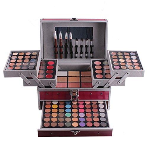 PhantomSky 132 Farben Lidschatten Palette Makeup Kit mit Concealer, Augenbrauenpuder, Schattierung Pulver, Blush, Lipgloss und Gepresstes Pulver #1 - Perfekt für Profi-und tägliche