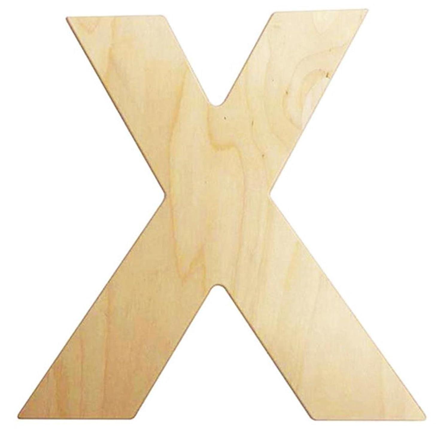 DARICE U0993-X 12IN. Wood Letter X, Multicolor