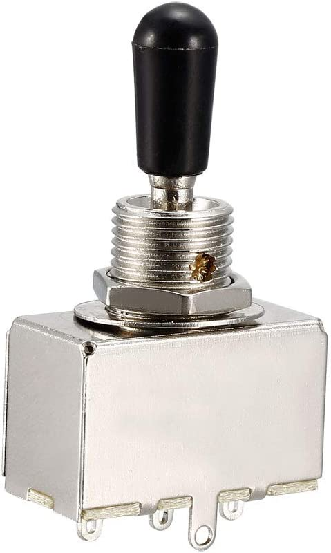 uxcell Metal Electric Max 87% OFF Guitar 3 Way shipfree Toggle Switch for Pau Les Box