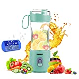 Portable Blender 2, OBERLY Upgraded Personal Juicer Cup for Shakes and Smoothies - Six Blades in 3D, 13oz...