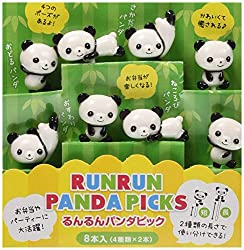 Panda 3D Food Pick, 8-Piece
