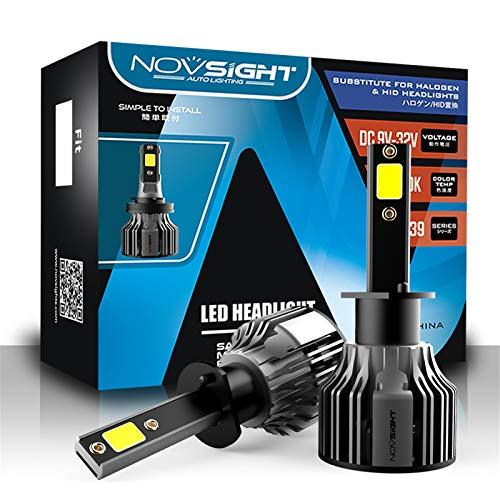 H4 Bombilla Led Lámpara Led Super Brillante 72W Lámpara Antiniebla 10000Lm Ip68 Kit de Conversión de Lámpara Todo en Uno Impermeable 72W 6000K