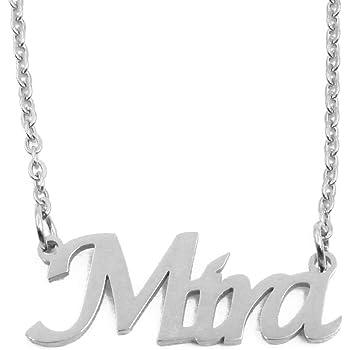 Silver Tone Kigu Lara Custom Name Necklace Personalized