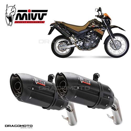 MIVV-Auspuff YAMAHA XT 660 X/R Bj.ab 2004 (SUONO,Edelstahl schwarz,Motorrad)