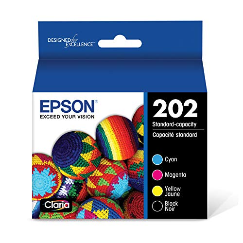 EPSON T202 Claria Ink Standard Capacity Black & Color Cartridge Combo Pack (T202120-BCS) for Select Epson Expression and Workforce Printers