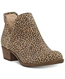 Lucky Brand Women's Baley2 Ankle Boot Leopard Eyelash Ankle Booties (9 Wide)