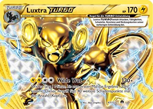 Luxtra Turbo 47/122 Pokémon XY Turbo Fieber Sammelkarte - Deutsch - Cardicuno