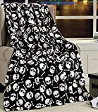 Happy Halloween Microplush Throw Blanket (50' x 60') - Creepy Skull