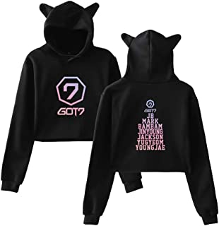 Kpop GOT7 Present You Hoodie Crop Tops Sweatshirt Jackson JB Bambam Mark Yugyeom Youngjae Pullover Jacket Sweater