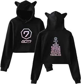 Aopostall Kpop GOT7 Present You Hoodie Crop Tops Sweatshirt Jackson JB Bambam Mark Yugyeom Youngjae Pullover Jacket Sweater