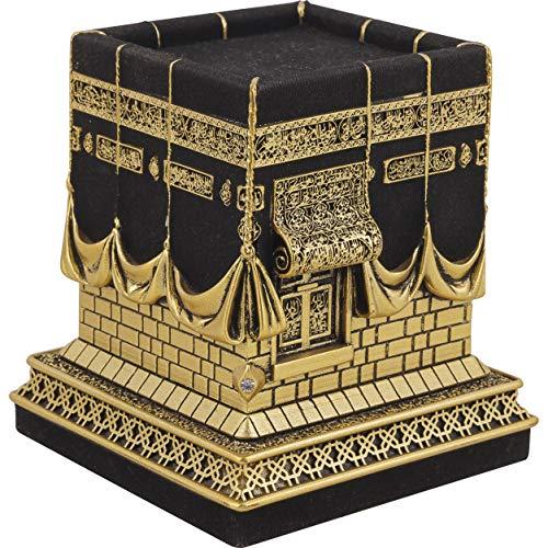 Ilm Verlag Islamische Heimdekoration, Dekomodell der Kaaba in Gold, Nachbildung der berühmten Kaaba, Kaba, Kabe, Prophet Muhammed, Dekoartikel,Tischdeko, Decor, (Klein)