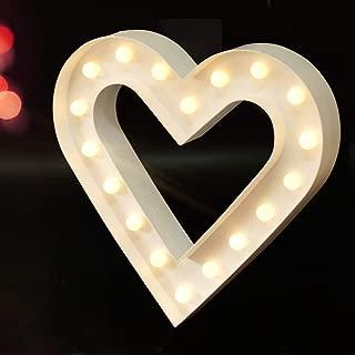 Best heart light decor Reviews