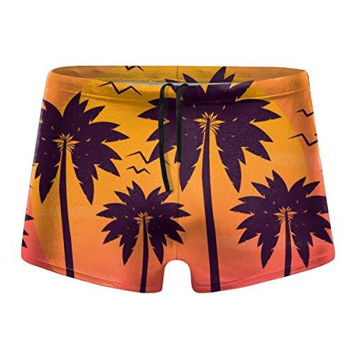 Mens 2-Pack Boxer Briefs Polyester Underwear Trunk Underwear with Rainbows Sky Design