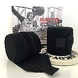 Klokov Knie-Bandagen- Knee Wraps fürs Gewichtheben - Krafttraining, Powerlfting, Strongmen und...