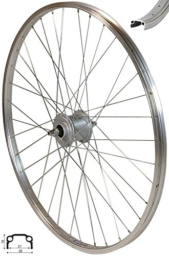 Redondo 28 Zoll Vorderrad Laufrad Kasten Felge Silber Shimano Nexus Nabendynamo