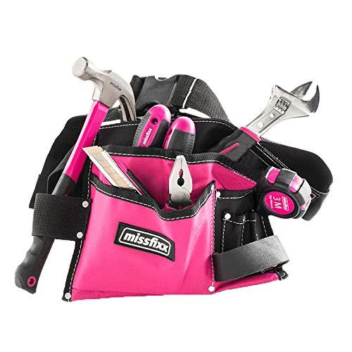 Pinker Werkzeuggürtel'Basic' mit Werkzeug