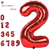Grande Numero Palloncini Mylar Foil Gas Elio Balloons Festa Forniture Compleanno (2)
