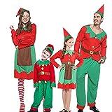 """Materiale di alta qualità - 100% poliestere con bel tessuto in pile per un caldo Natale. Il costume morbido e confortevole è ciò che vogliamo offrire ai nostri clienti. Buon Natale! - Come grande aiutante di Babbo Natale, """"fare"""" regali per i bambini ..."""
