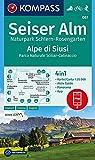 KOMPASS Wanderkarte Seiser Alm, Naturpark Schlern-Rosengarten, Alpe di Siusi: 4in1 Wanderkarte 1:25000 mit Aktiv Guide und Panorama inklusive Karte ... Skitouren. (KOMPASS-Wanderkarten, Band 67) - KOMPASS-Karten GmbH