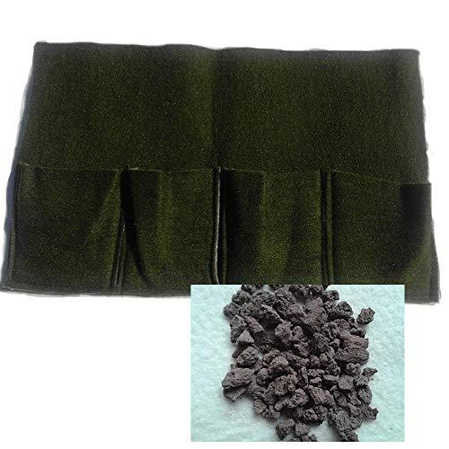 Pflanztasche f.Teichpflanzen 4er Mini + GRANULAT/Teicherde 6,4 Kg Körnung 2-8 mm Bewuchsmatte Pflanzkorb Korb