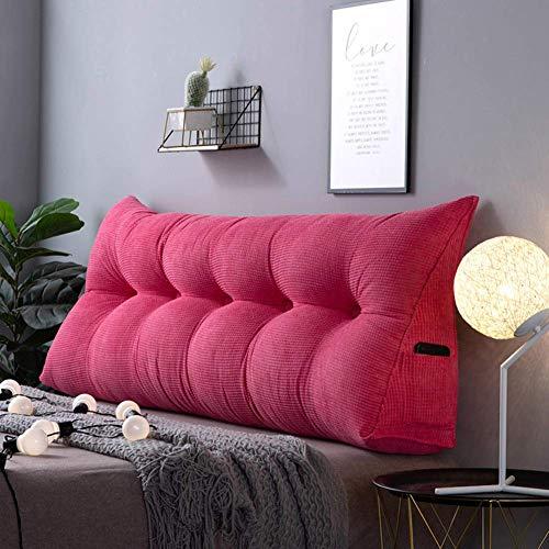 WLVG Almohada de lectura de color sólido extraíble lavable, suave, almohada de apoyo de posicionamiento, almohada de respaldo, almohada de 60 x 20 x 50 cm